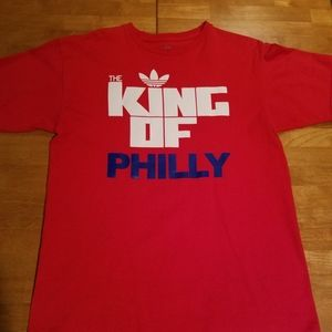 Men's Adidas King of Philly Shirt. Size medium.